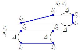 Рисунок 2.3 – Эпюр фронтали