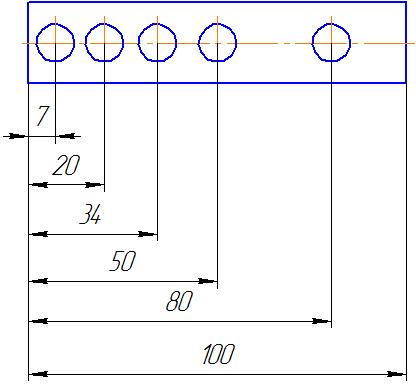Пересечение размерных линий на чертеже